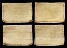 Собрание различных ярлыков джинсов на черноте Стоковое Изображение RF