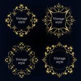 Собрание 4 рамок вектора Стоковые Изображения