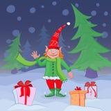 Собрание рождества, символы, характеры и декоративные элементы Нарисованный вручную Стоковые Фото