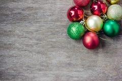 собрание рождества шариков цветастое Стоковые Фотографии RF