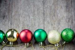собрание рождества шариков цветастое Стоковое фото RF