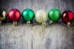 собрание рождества шариков цветастое Стоковые Фото