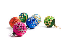 собрание рождества шариков цветастое Стоковые Изображения RF