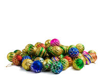 собрание рождества шариков цветастое Стоковые Изображения