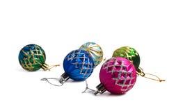 собрание рождества шариков цветастое Стоковое Фото