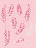 Собрание розовых листьев Бесплатная Иллюстрация