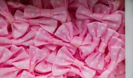 Собрание розовых смычков цвета с точками Стоковые Изображения RF