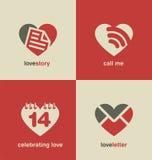 Собрание символов и значков дня валентинок иллюстрация вектора