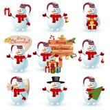 Собрание снеговика. Стоковые Фотографии RF