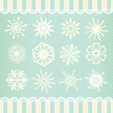 Собрание снежинок вектора Стоковые Изображения RF