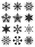 Собрание снежинок Стоковое Изображение