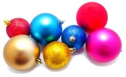 Собрание совершенных изолированных шариков рождества цветов Стоковая Фотография RF