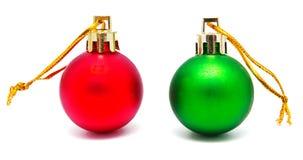 Собрание совершенных изолированных шариков рождества цветов Стоковое Изображение