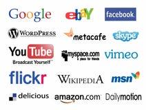 Собрание социальных логотипов сети Стоковые Фотографии RF