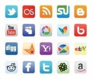 Собрание социальных логотипов сети Стоковая Фотография