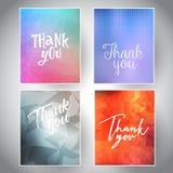 Собрание спасибо карточек бесплатная иллюстрация