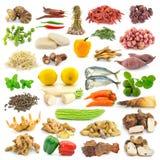 Собрание специй и овощей Стоковые Фото