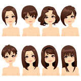 Собрание способа стиля причёсок Стоковое Изображение