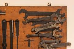 Собрание старого ржавого wrenche Стоковое Изображение RF