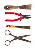 Собрание старых инструментов Стоковые Изображения RF