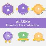 Собрание стикеров перемещения Аляски бесплатная иллюстрация