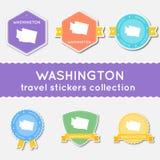 Собрание стикеров перемещения Вашингтона бесплатная иллюстрация