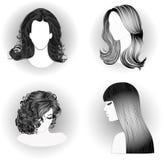 Собрание стилей причёсок Стоковое Изображение RF