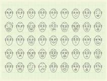 Собрание стороны эмоции вектора бесплатная иллюстрация