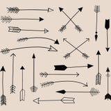 Собрание стрелки притяжки руки Стоковые Фотографии RF