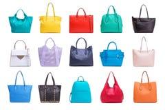 Собрание сумок различных женщин Стоковое Изображение RF