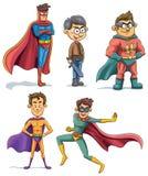 Собрание супергероя Стоковое Изображение