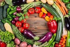 Собрание сырцовых овощей Стоковое фото RF