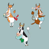 Собрание с различными коровами Стоковая Фотография RF