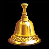 Собрание талисманов: золотой колокол Стоковое фото RF