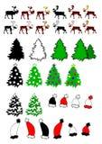 Собрание темы рождества Стоковое Изображение