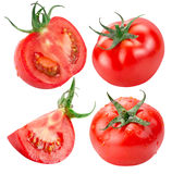 Собрание томатов изолированных на белой предпосылке Стоковое фото RF