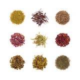 Собрание травяного чая Стоковое Фото