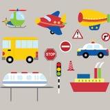 Собрание транспорта Стоковая Фотография RF