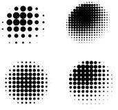 Собрание трехмерным сфер затеняемых полутоновым изображением иллюстрация штока