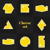 Собрание триангулярных карточек сыра части Стоковая Фотография RF