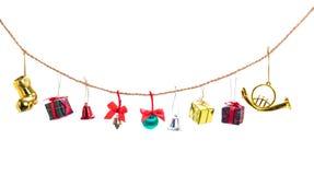 Собрание украшения рождества Стоковая Фотография RF