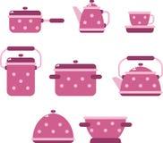 Собрание утварей кухни иллюстрация вектора