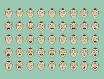 Собрание улыбки стороны эмоции вектора бесплатная иллюстрация