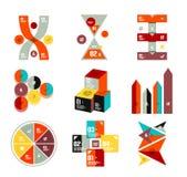 Собрание ультрамодных красочных infographic шаблонов диаграммы бесплатная иллюстрация