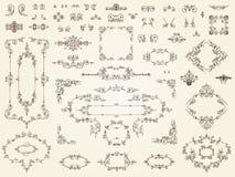 Собрание филигранных элементов орнамента Стоковая Фотография