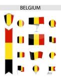 Собрание флага Бельгии иллюстрация вектора