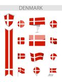 Собрание флага Дании иллюстрация вектора
