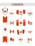 Собрание флага Канады иллюстрация штока