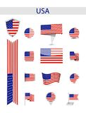 Собрание флага США иллюстрация вектора