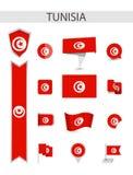 Собрание флага Туниса плоское бесплатная иллюстрация